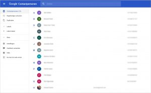 Google Contacpersonen