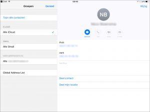 Groepen in iCloud Contacten